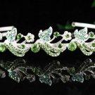 Floral Bride Silver headband;Sweet Dancer regal;Bridal Tiara;opera Rhinestone Wedding tiara#592gr
