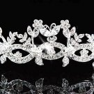 Fancy Bride Silver headband;Sweet Dancer regal;Bridal Tiara;opera Rhinestone Wedding tiara#614
