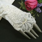 Satin Pearl Bridesmaid finger-less gloves;Dancer Opera Accessories;Bridal wedding Accessories#64i
