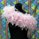 Pink Fancy Feather Wrap;Bridesmaid shawl;Dancer Opera Scarves ;Bridal Rope ;wedding Tippet#01