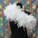 White Fancy Feather Wrap;Bridesmaid shawl;Dancer Opera Scarves ;Bridal Rope ;wedding Tippet#02
