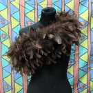 Brown Fancy Feather Wrap;Bridesmaid shawl;Dancer Opera Scarves ;Bridal Rope ;wedding Tippet#03