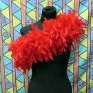 Red Fancy Feather Wrap;Bridesmaid shawl;Dancer Opera Scarves ;Bridal Rope ;wedding Tippet#04r
