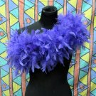purple Fancy Feather Wrap;Bridesmaid shawl;Dancer Opera Scarves ;Bridal Rope ;wedding Tippet#05