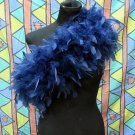 Navy Fancy Feather Wrap;Bridesmaid shawl;Dancer Opera Scarves ;Bridal Rope ;wedding Tippet#07