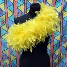 Yellow Fancy Feather Wrap;Bridesmaid shawl;Dancer Opera Scarves ;Bridal Rope ;wedding Tippet#09