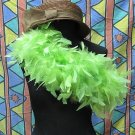 Green Fancy Feather Wrap;Bridesmaid shawl;Dancer Opera Scarves ;Bridal Rope ;wedding Tippet#10