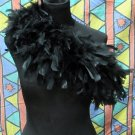Black Fancy Feather Wrap;Bridesmaid shawl;Dancer Opera Scarves ;Bridal Rope ;wedding Tippet#12