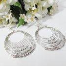 Cute dangle Earring ;Bridal Bride Silver Earrings;Rhinestone Wedding Party Fashion accessories#LE16