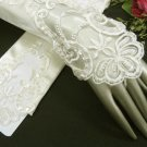 Ivory Finger-less Satin Bridesmaid gloves;Dancer Opera Accessories;Wedding Bridal gloves#36i