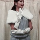 Ivory elbow cute bow Bridesmaid gloves;Dancer Opera Accessories;Wedding Bridal gloves#94i