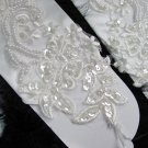 Ivory Floral Lace Elbow Bridesmaid gloves;Dancer Opera Accessories;Wedding Bridal gloves#44i