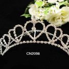 Silver Fancy Bride comb;Sweet Dancer regal;Bridal Tiara;opera Rhinestone Wedding tiara#2098
