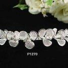 Floral Silver Fancy Bride Alloy comb;Dancer regal;Bridal Tiara;opera Rhinestone Wedding tiara#1270