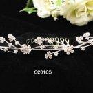 Floral Silver Fancy Bride comb;Dancer regal;Bridal Tiara;opera Rhinestone Wedding tiara#2016s