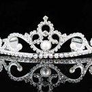 Silver Bridal Headpiece;Dancer regal;Bridesmaid Tiaras;opera Rhinestone Wedding tiara#1370
