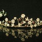 Golden Bridal Headpiece;Dancer regal;Bridesmaid Tiaras;opera Rhinestone Wedding tiara#531g