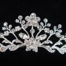 Silver Elegance Bridal Headpiece;Dancer regal;Bridesmaid Tiaras;opera Rhinestone Wedding tiara#1003