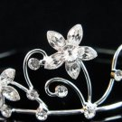 Silver Elegance Bridal Headpiece;Dancer regal;Bridesmaid Tiaras;opera Rhinestone Wedding tiara#4724