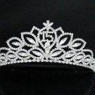 Sweet Happy Birthday 15 Silver Rhinestone tiara;Fancy Headpiece;Dancer regal;Girls Tiaras #3250