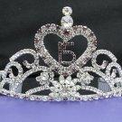 Huge Sweet Happy Birthday 15 Silver Rhinestone tiara;Fancy Headpiece;Dancer regal;Girls Tiaras #6330