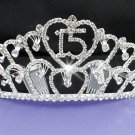 Huge Sweet Happy Birthday 15 Silver Rhinestone tiara;Fancy Headpiece;Dancer regal;Girls Tiaras #9800