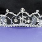 Sweet Happy Birthday 16 Silver Rhinestone tiara;Fancy Headpiece;Dancer regal;Girls Tiaras #715