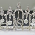 Sweet Happy Birthday 16 Silver Rhinestone tiara;Fancy Headpiece;Dancer regal;Girls Tiaras #6185