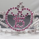 Sweet Happy Birthday 15 Silver Rhinestone tiara;Fancy Headpiece;Dancer regal;Girls Tiaras #6944