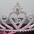 Sweet Happy Birthday 16 Silver Rhinestone tiara;Fancy Headpiece;Dancer regal;Girls Tiaras #7046