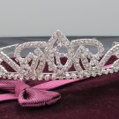 Sweet Happy Birthday 15 Silver Rhinestone tiara;Fancy Headpiece;Dancer regal;Girls Tiaras #7951