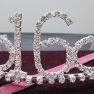 Sweet Happy Birthday 16 Silver Rhinestone tiara;Fancy Headpiece;Dancer regal;Girls Tiaras #524