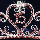 Sweet Happy Birthday 15 Silver Rhinestone tiara;Fancy Headpiece;Dancer regal;Girls Tiaras #1048r