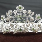 Sweet Happy Birthday 15 Silver Rhinestone tiara;Fancy Headpiece;Dancer regal;Girls Tiaras #1355gr