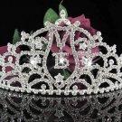 Huge Sweet Happy Birthday 15 Silver Rhinestone tiara;Fancy Headpiece;Dancer regal;Girls Tiaras #1014