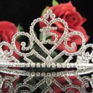 Huge Sweet Happy Birthday 15 Silver Rhinestone tiara;Fancy Headpiece;Dancer regal;Girls Tiaras #1015