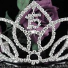 Huge Sweet Happy Birthday 15 Silver Rhinestone tiara;Fancy Headpiece;Dancer regal;Girls Tiaras #1029