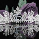 Fancy Sweet Happy Birthday 15 Silver Rhinestone tiara; Headpiece;Dancer regal;Girls Tiaras #1059