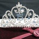 Elegance Sweet Happy Birthday 15 Silver Rhinestone tiara; Headpiece;Dancer regal;Girls Tiaras #1061
