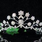 Silver Bridal Headpiece;Dancer regal;Elegance Bridesmaid Tiaras;opera Rhinestone Wedding tiara#774s