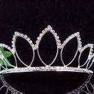 Silver Bridal Headpiece; Dancer regal;Bridesmaid Tiaras;opera Rhinestone Wedding tiara#2422