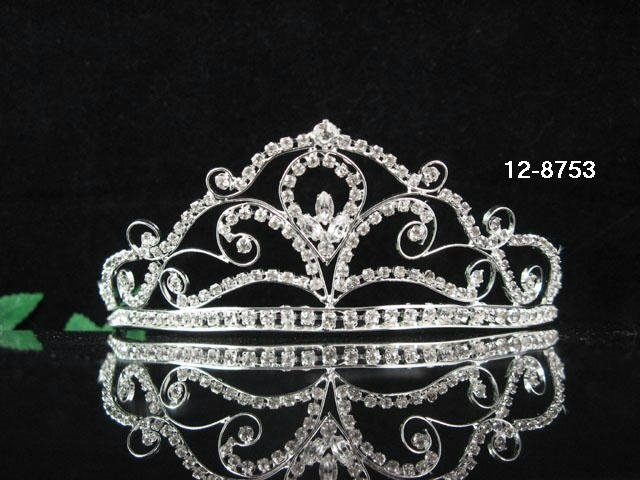 Bridal Headpiece;Elegance Dancer Opera regal;Bridesmaid Tiaras;Silver Rhinestone Wedding tiara#753