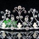 Bridal Headpiece;Elegance Dancer Opera regal;Bridesmaid Tiaras;Silver Rhinestone Wedding tiara#33