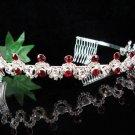Bridal Headband;Elegance Dancer Opera regal;Bridesmaid Tiaras;Silver Rhinestone Wedding tiara#403R