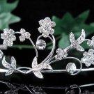 Wedding Tiara;Elegance Dancer Opera regal;Bridesmaid Tiaras;Silver Rhinestone Bridal tiara#531