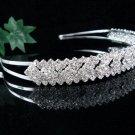 Wedding Headband;Elegance Dancer Opera regal;Bridesmaid Tiaras;Silver Rhinestone Bridal tiara#711110
