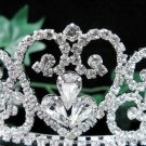 Wedding Headpiece;Elegance Dancer Opera regal;Bridesmaid Tiaras;Silver Rhinestone Bridal tiara#11