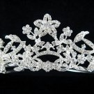 Wedding Headpiece;Elegance Dancer Opera regal;Bridesmaid Tiaras;Silver Rhinestone Bridal tiara#613