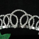 Wedding Headband;Silver Rhinestone Bridal tiara;Elegance Dancer Opera regal;Bridesmaid Tiaras#7537