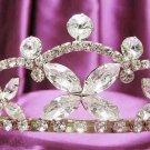 Golden Wedding Headpiece;Rhinestone Bridal tiara;Elegance Dancer Opera regal;Bridesmaid Tiaras#501g